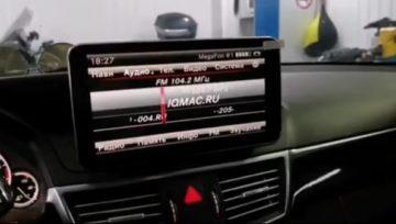 Mercedes W212дали новую жизнь автомобилю, заменив устаревший монитор Command ntg4.5 на современный широкоформатный Ultra HD с IPS матрицей на ОС Андроид